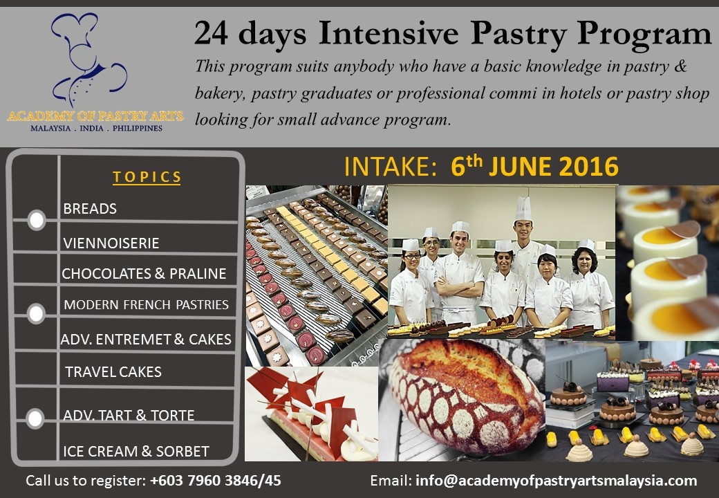 Academy-Pastry-Arts-Malaysia-24-Days-Hands-on-Intensive-Program-2016-May-2